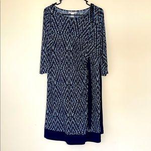 MATERNITY MOTHERHOOD Navy midi - dress